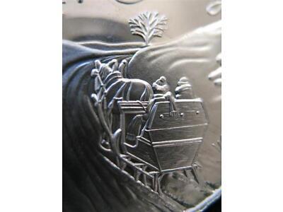 1-OZ.999 SILVER 1995 CHRISTMAS SLEIGH & HORSE Fatherland ROAD SILVERTOWNE COIN+GOLD