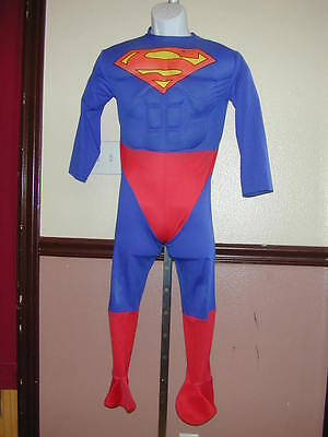 HALLOWEEN COSTUME Superman Boys Cool Puffed Muscle Chest Super Hero Jumpsuit - Cool Superheroes Costumes