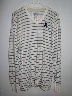 Aeropostale Men's Long Sleeve V-neck Pull-over Shirt Xxl