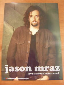 JASON-MRAZ-Love-Is-A-Four-Letter-Word-2Sided-OFFICIAL-POSTER