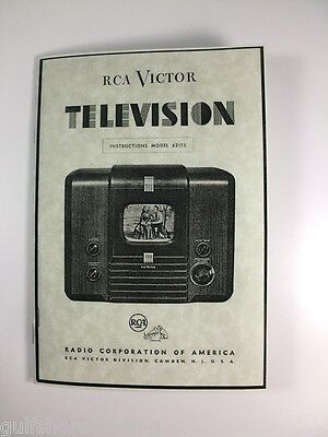 Rca 621ts Television Instruction Manual Reprint C. 1946 Post Wwii Tv