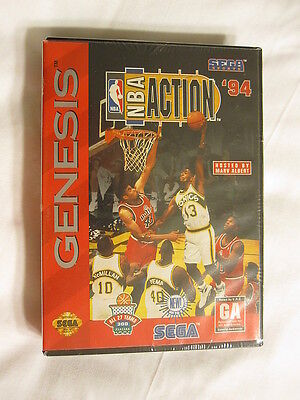 Nba Action '94 (sega Genesis) Brand New, Factory Sealed