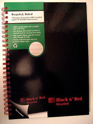 BLACK N' RED A5 SIZE HARDBACK NOTEBOOK