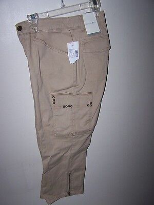 Women Junior Size 6 Capri Jeans Tan Zipper Ankles Fashion Bug Casual Capri 6