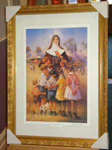 Saint Mary MacKillop Framed  Print Darcy Doyle hand signed in pencil