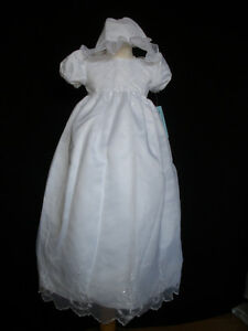 New-Baby-Girl-Christening-Baptism-Formal-Dress-Gown-size-New-Born-to-18-M-white