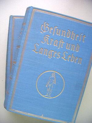 2 Bd. Gesundheit Kraft und Langes Leben um 1930 Körper Gesundheitspflege