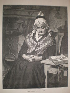 A-Quiet-Christmas-William-B-C-Fyfe-old-lady-sleeping-print-1876
