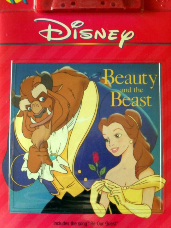 BEAUTY & THE BEAST Disney Read Along Book & Cassette Tape Set New SEALED