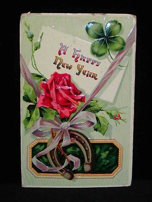 Antique Postcard Happy New Years  C1910   1911 Cancels