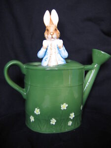 "SCHMID ""LARGE PETER RABBIT IN WATERING CAN"" MUSICAL"