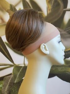 MEDIUM-BROWN-WITH-HIGHLIGHTS-BEEHIVE-BUN-HAIR-PIECE-EXTENSION-UK-SELLER