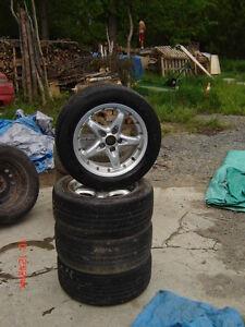 """CSA 7JX15H2 15"""", 5 bolt universal rims/P205/55R15 Goodyear Eagle Cornwall Ontario image 1"""