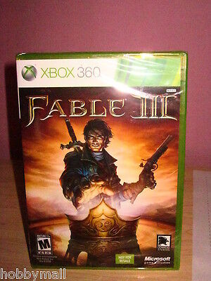Xbox 360 Fable Iii 3 Sealed Not For Resale Version Video Game