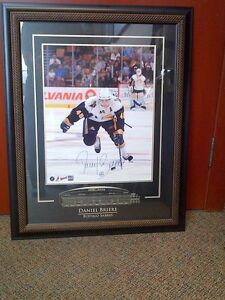 "16""X 20"" photo Sabres Briere Signed Framed Print COA+ Bobblehead"