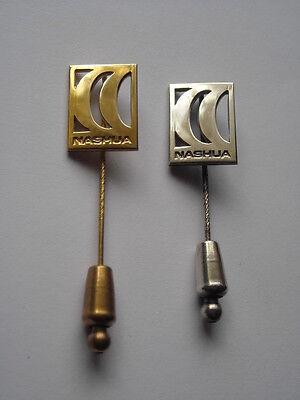 Zwei Anstecknadeln NASHUA 333er Gold + 925er Silber