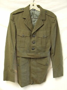 Brand-New-Military-Issue-Vintage-USMC-Alpha-Coat-with-belt-OD-Free-shipping