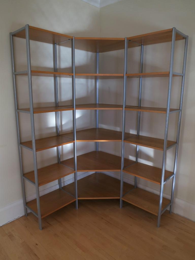 Ikea shelves corner : Corner shelves ikea