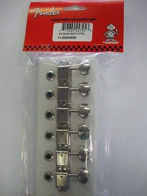 GENUINE FENDER NICKEL KLUSON STYLE TUNERS TUNING MACHINES FOR STRAT TELE PROJECT on Rummage