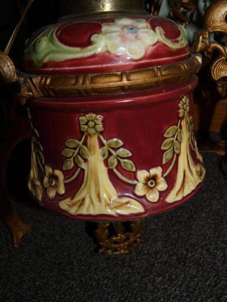 Ein traumst ck jugendstil kronleuchter majolika lampe in hannover s dstadt bult lampen - Ebay kleinanzeigen kronleuchter ...