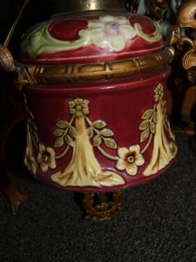 Ein traumst ck jugendstil kronleuchter majolika lampe for Ebay kleinanzeigen kronleuchter