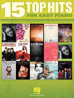 15 TOP HITS OF 2012 FOR EASY PIANO SHEET MUSIC SONG BOOK on Rummage