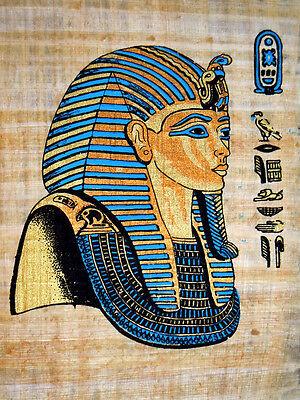 Ägypten Papyrus-Bild 32x22 - Der junge Pharao