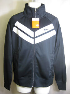 NIKE-MENS-POLYESTER-ZIP-UP-JACKET-BLACK-WHITE-446271-479