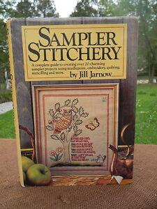 Vintage-1982-HC-w-DJ-Sampler-Stitchery-20-Project-Needlepoint-Book-Jill-Jarnow