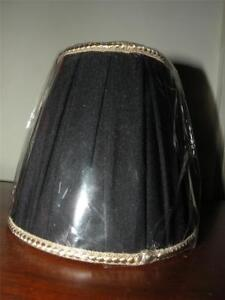 new unused black and gold box pleated shantung chandelier shade shades. Black Bedroom Furniture Sets. Home Design Ideas