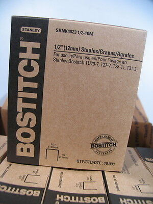 6 Boxes(stanley Bostitch Sbnk4023 1/2-10m) 1/2 Staples-tu20-7,t27-7,t28-1,t31-2
