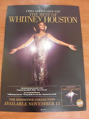 WHITNEY HOUSTON - The Best of Whitney Houston [OFFICIAL] POSTER *NEW*