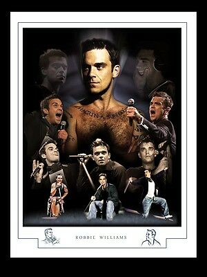 ROBBIE WILLIAMS  MONTAGE PRINT