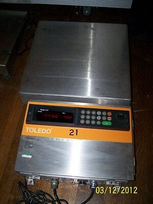 Toledo Scale 8132 Display Panel Bench-top Platform Scale 2095 105 Lbs