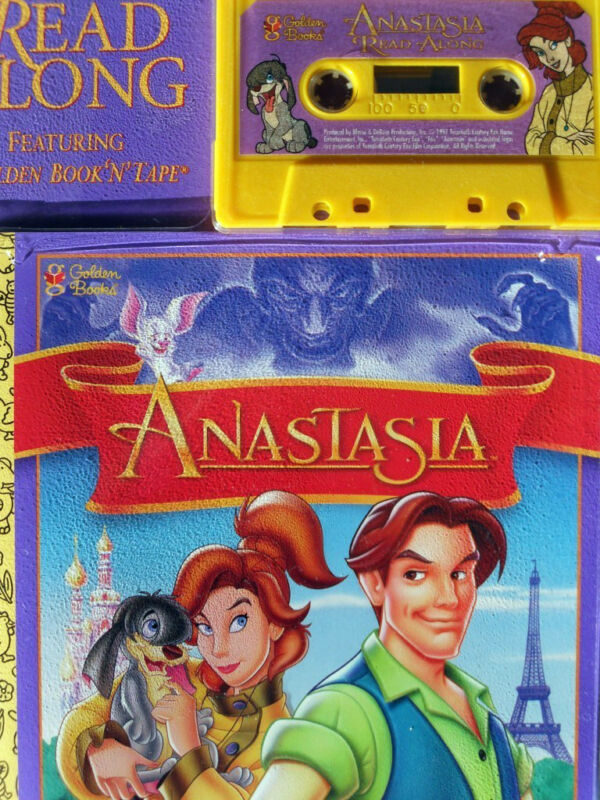 ANASTASIA 9615 Little Golden Read Along Book & Cassette Tape Set SEALED