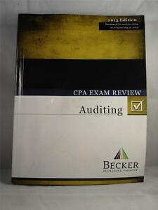 Becker 2013 edition cpa exam review auditing version a for Becker payment plan