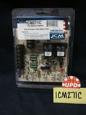 Icm271c-fan Blower Controler-dual Function, Time Delays Fixed