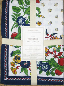 WILLIAMS-SONOMA-PROVENCE-TABLECLOTH-034-WHITE-034-70-034-X-90-034-70-034-X-108-034-70-034-ROUND