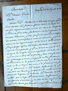 Genova 1793 madrid lettera scritta a mano affari in - Finestra in spagnolo ...