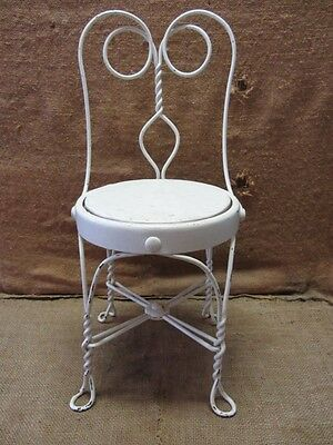 Vintage Childs Ice Cream Chair > Antique Old Stool Parlor Soda Fountain 7044