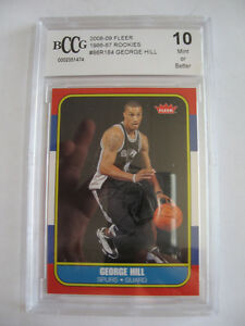 2008-GEORGE-HILL-FLEER-CARD-BCCG-10-MINT-LOT-R