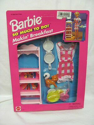 Brand 1995 Barbie So Much To Do Makin' Breakfast 67171-91