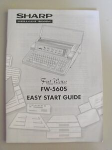 Instructions-Typewriter-SHARP-FW-560S-Font-writer-EASY