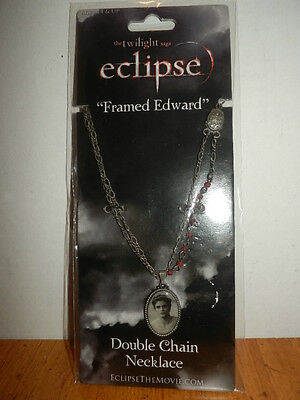 TWILIGHT ECLIPSE FRAMED EDWARD  DOUBLE CHAIN NECKLACE