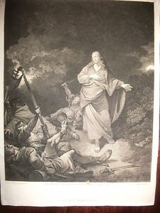 TRADIMENTO-DI-GESU-Jesus-Betrayed-acquaforte-originale-1800-LONDRA