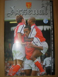 ARSENAL v SCHALKE 04 CHAMPIONS LEAGUE 2001-2002