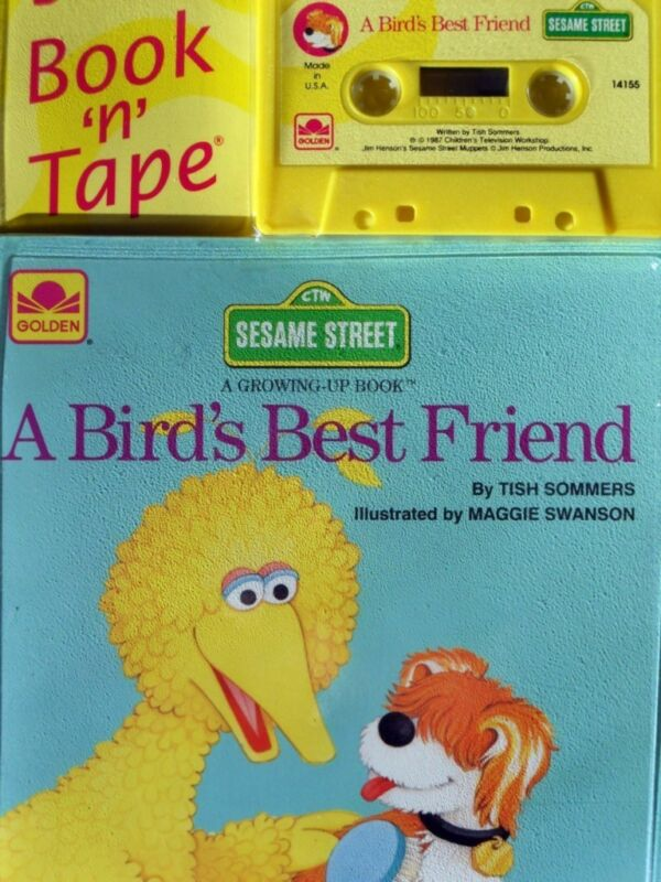 BIRD'S BEST FRIEND Sesame Street 14155 Golden Read Along Book & Cassette SEALED