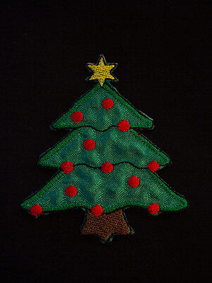 Ecusson Brodé - PATCH THERMOCOLLANT - SAPIN DE NOEL / 75x70mm / CHRISTMAS TREE
