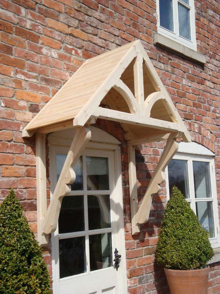 Timber Door Canopies Front
