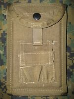 USMC On Tag, Notepad, Pen Case MOLLE II In Coyote Brown New!